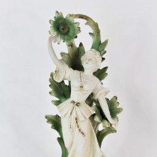 Antigüedades: GRAN BISCUIT MODERNISTA DAMA ART NOUVEAU, NUMERADA, S XIX PORCELANA BISQUE. Lote 153627658