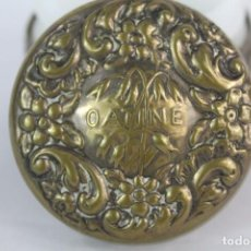 Antigüedades: PRECIOSO FRASCO DE CREMA OATINE, ART NOUVEAU. MODERNISTA. INTERIOR DE OPALINA. Lote 153647466