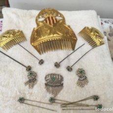 Antigüedades: ANTIGUAS PEINETAS Y ADEREZO DE VALENCIANA. Lote 153648062