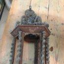 Antigüedades: FAROL SIGLO XIX REALIZADO EN FORJA CON MEDIDA 55X36 CM - NECESITA RESTAURAR. Lote 153661598