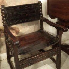 Antigüedades: SILLÓN FRAILERO DE NOGAL, S. XVII. Lote 153683470