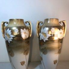Antigüedades: 2 JARRONES PORCELANA- ALEMANIA- REINHOLD SCHLEGELMILCH- 31 CM. Lote 153686668