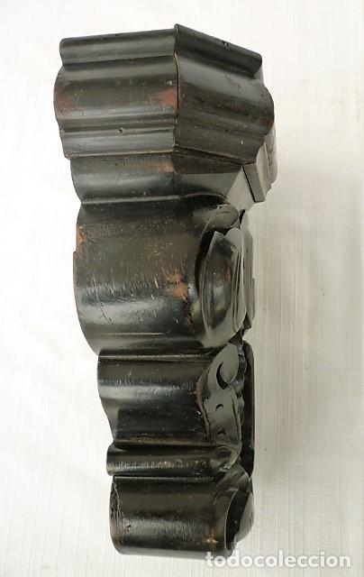 Antigüedades: MENSULA TALLADA EN MADERA NOBLE MACIZA CON MOTIVOS VEGETALES - Foto 3 - 153688054