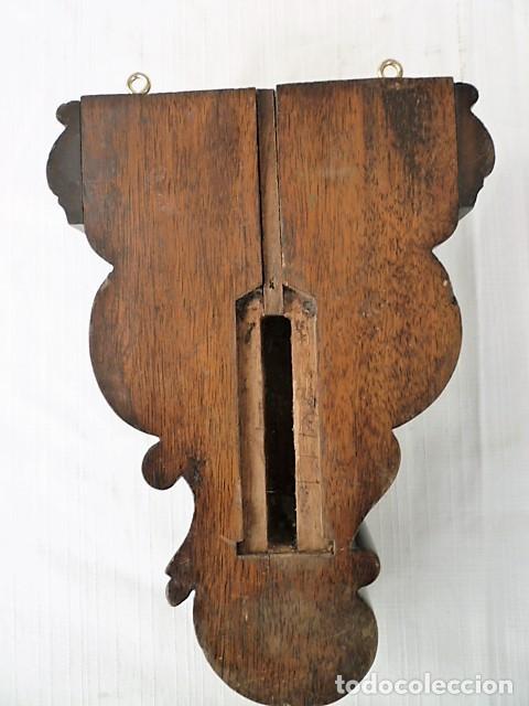 Antigüedades: MENSULA TALLADA EN MADERA NOBLE MACIZA CON MOTIVOS VEGETALES - Foto 4 - 153688054
