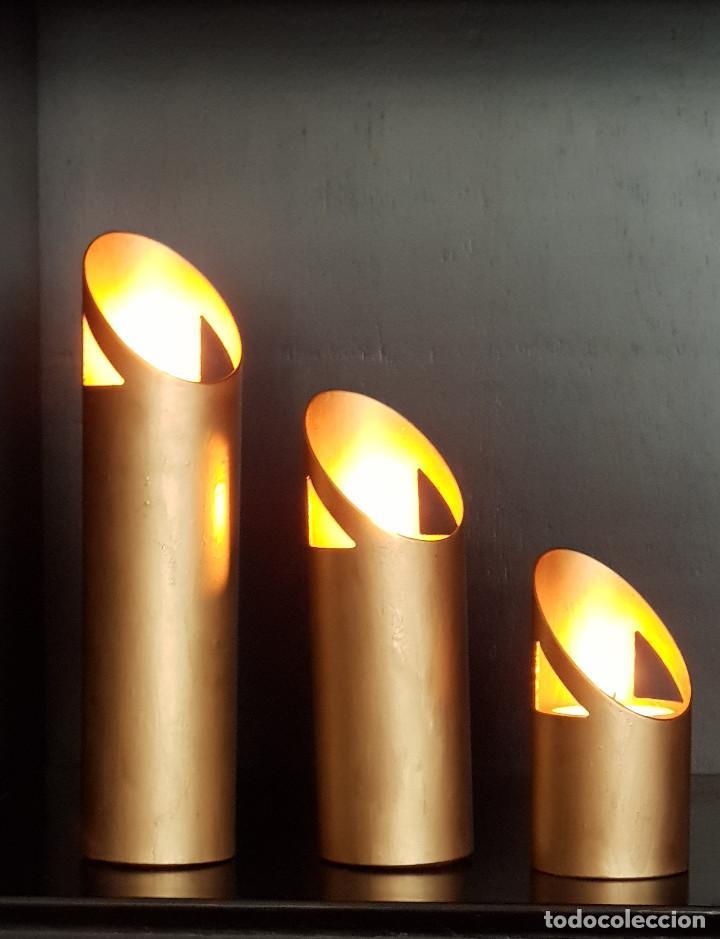 CANDELABROS DE BRONCE ART DÉCO (Antigüedades - Iluminación - Candelabros Antiguos)