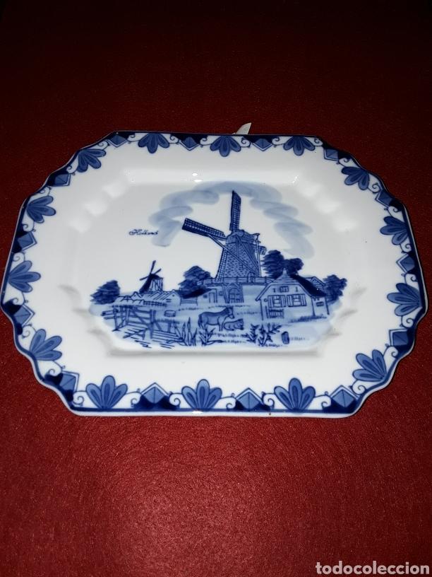 PLATO DE PORCELANA HOLANDESA (Antigüedades - Porcelana y Cerámica - Holandesa - Delft)