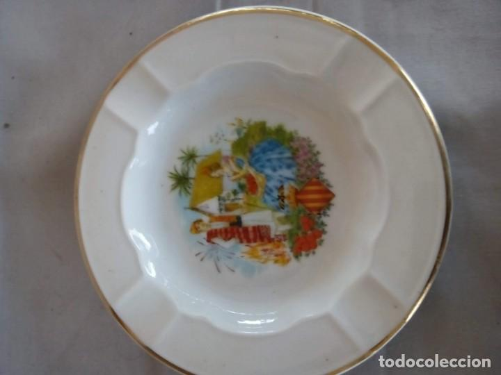 ANTIGUO CENICERO DE VALENCIA DE SANTA CLARA (Antigüedades - Porcelanas y Cerámicas - Santa Clara)