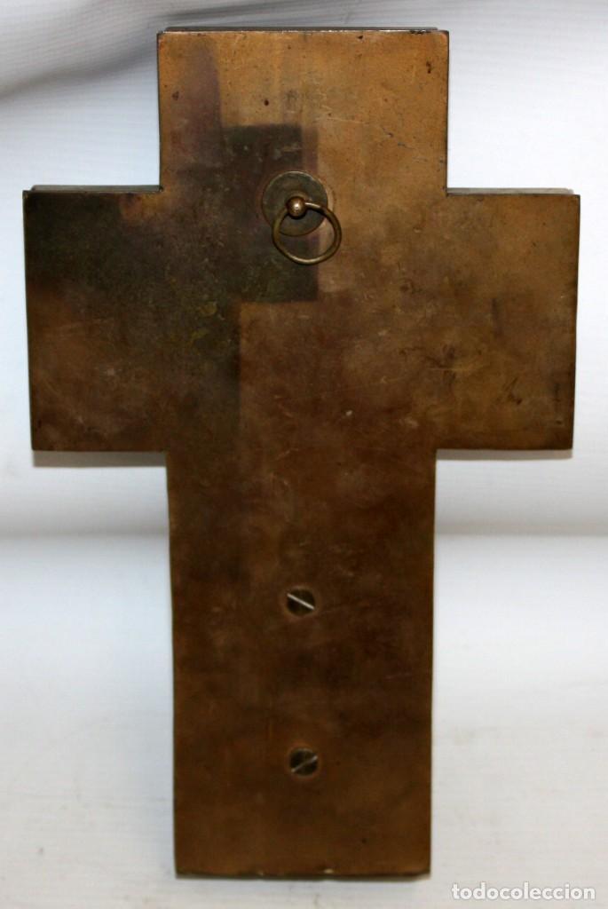 Antigüedades: CRUZ-BENDITERA CON ESMALTE CLOISONNE Y ONIX-SG XIX. - Foto 3 - 153742574
