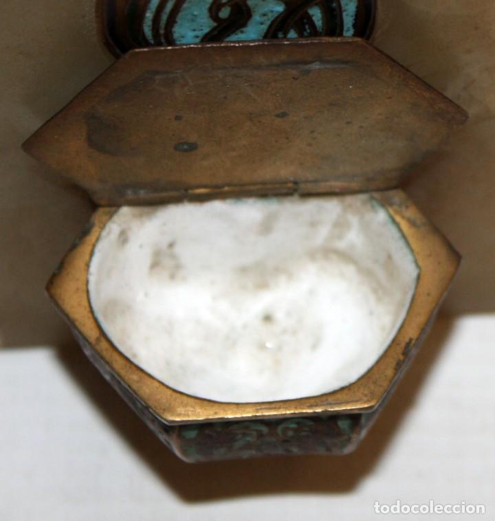 Antigüedades: CRUZ-BENDITERA CON ESMALTE CLOISONNE Y ONIX-SG XIX. - Foto 5 - 153742574
