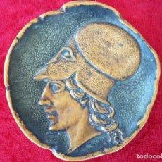 Antigüedades: TARJETERO EN BRONCE FIRMADO – CON LA FIGURA DE PERICLES HACIA EL AÑO 442 A DE XTO. – LE VERRIER. Lote 153787114