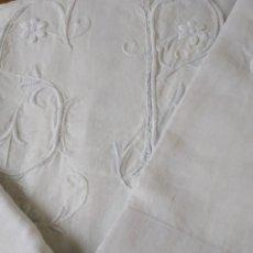 Antigüedades: SABANA MATRIMONIO ALGODON. Lote 153830604
