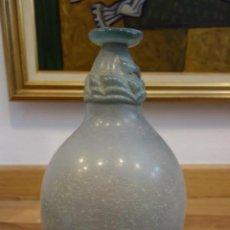Antigüedades: JARRON DE CRISTAL PRENSADO DE PRINCIPIOS DEL SIGLO XIX. Lote 153863258