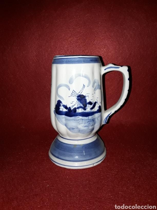 JARRA DE PORCELANA HOLANDESA (Antigüedades - Porcelana y Cerámica - Holandesa - Delft)