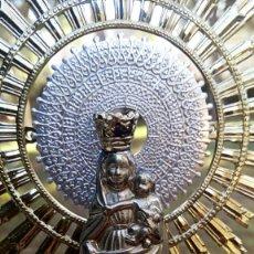 Antiques - Virgen del Pilar de plata. Con chapados en oro. - 153902330