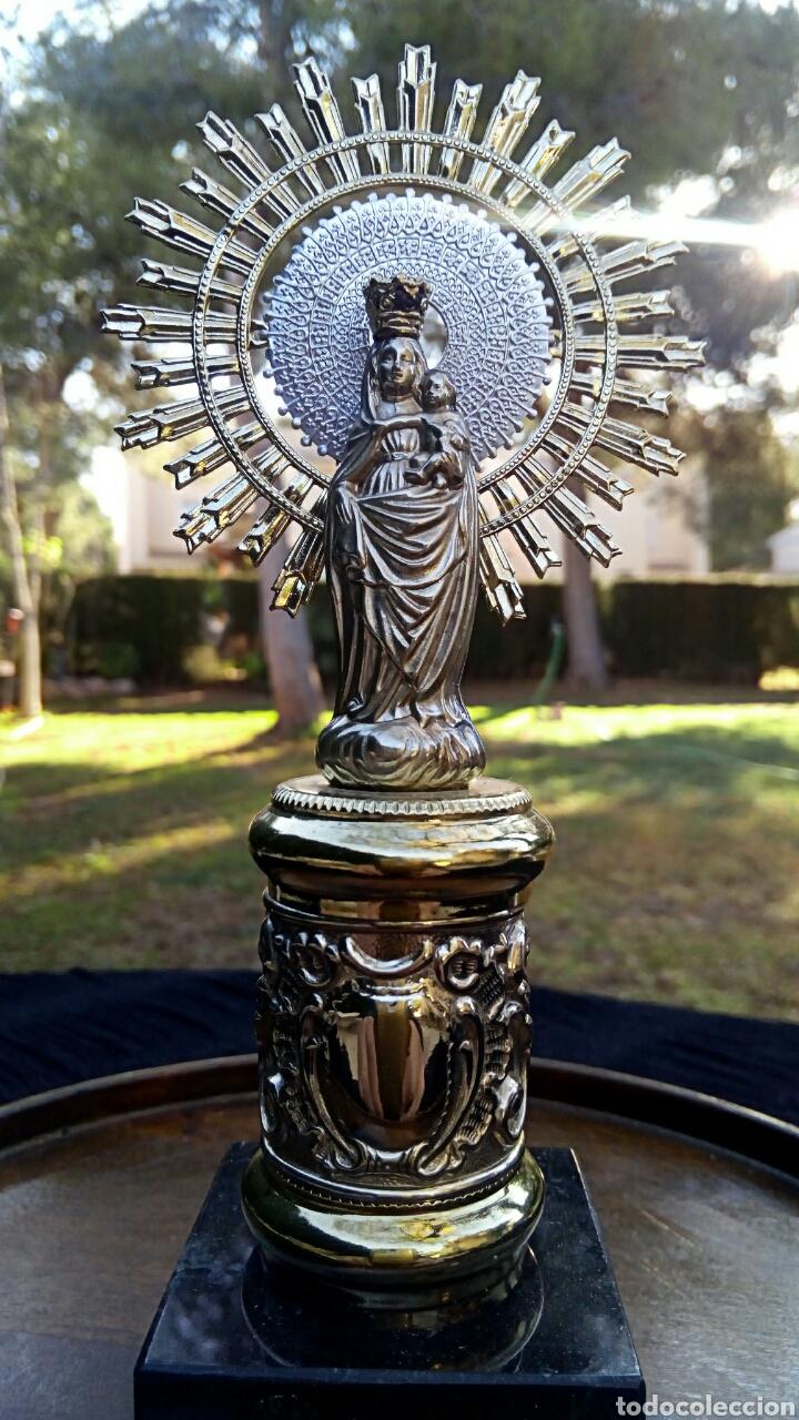 Antigüedades: Virgen del Pilar de plata. Con chapados en oro. - Foto 6 - 153902330