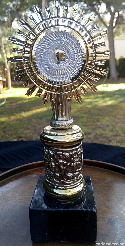 Antigüedades: Virgen del Pilar de plata. Con chapados en oro. - Foto 9 - 153902330