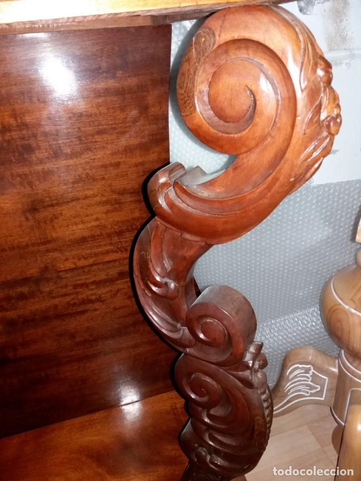 Antigüedades: MUEBLE CONSOLA Y ESPEJO ANTIGUO - Foto 4 - 153910122