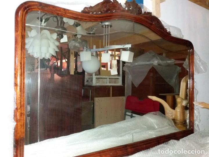 Antigüedades: MUEBLE CONSOLA Y ESPEJO ANTIGUO - Foto 5 - 153910122