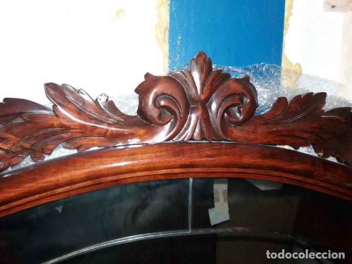 Antigüedades: MUEBLE CONSOLA Y ESPEJO ANTIGUO - Foto 6 - 153910122