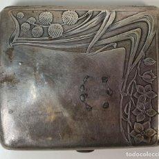 Antigüedades: PITILLERA DE CABALLERO. PLATA PUNZONADA 925. CIRCA 1950. . Lote 153911294