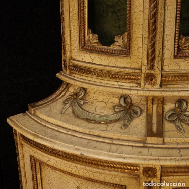 Antigüedades: Vitrina italiana lacada y pintada en estilo Luis XVI. - Foto 5 - 153917558