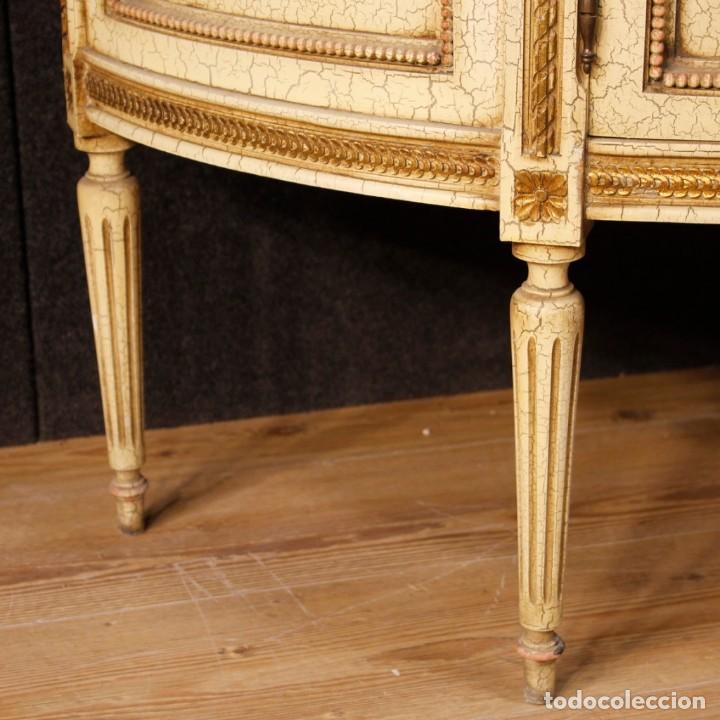 Antigüedades: Vitrina italiana lacada y pintada en estilo Luis XVI. - Foto 7 - 153917558