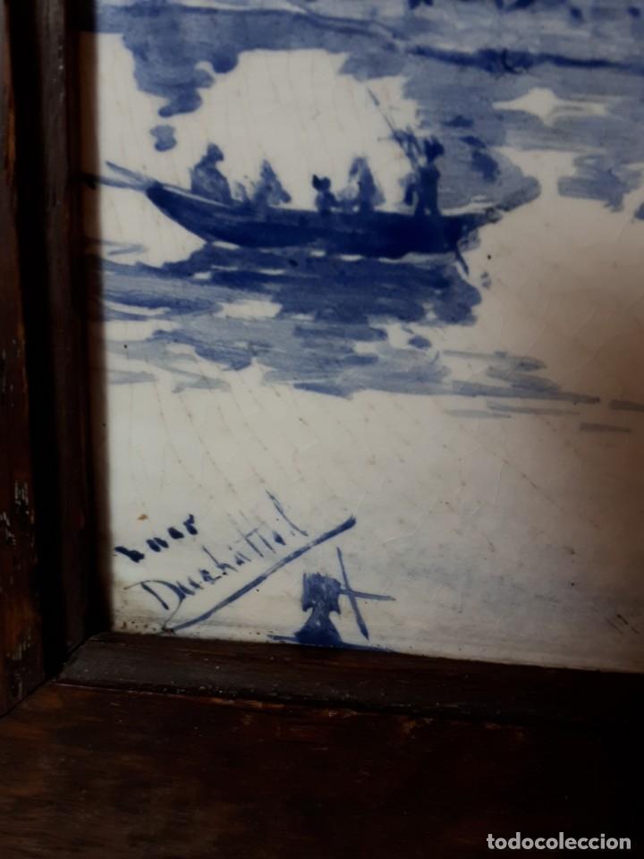 Antigüedades: antuguo azulejo Delft - Foto 2 - 153925118