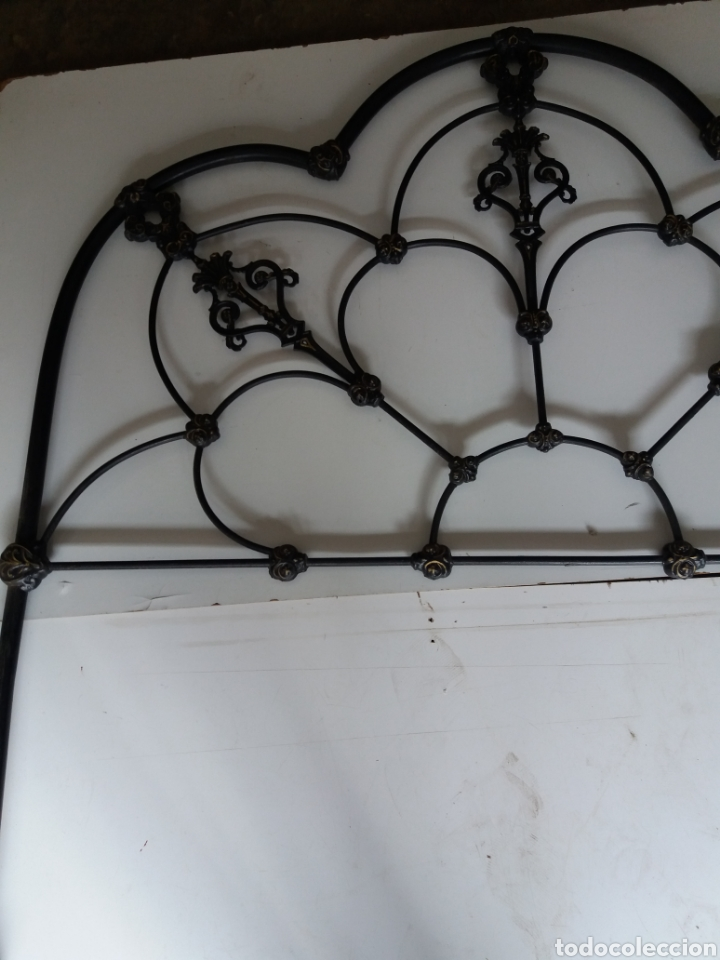 Antigüedades: Cabezal de Cama de hierro - Foto 10 - 153925402