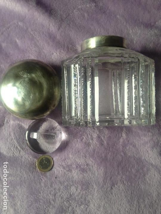 Antigüedades: Bombonera xix tapon plata cristal baccarat - Foto 2 - 153942754