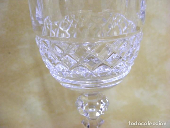 Antigüedades: JUEGO DE 6 COPAS CRISTAL TALLADO - Foto 12 - 153945682
