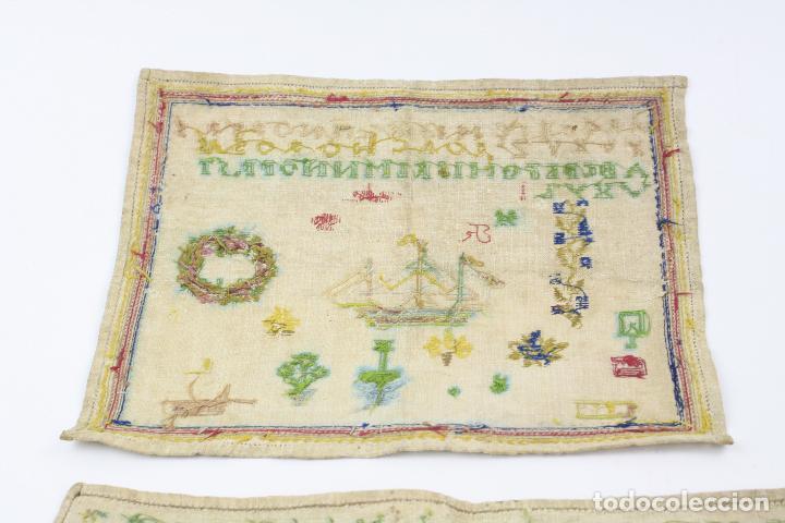 Antigüedades: Bordados con alfabeto y otros motivos. Ver fotos anexas. - Foto 4 - 153950518