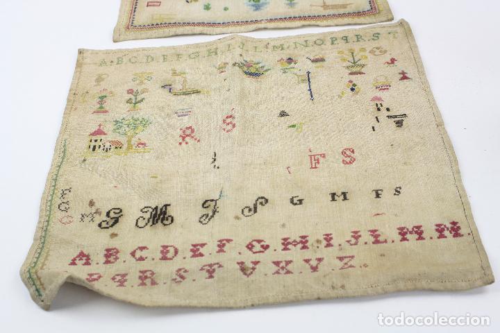 Antigüedades: Bordados con alfabeto y otros motivos. Ver fotos anexas. - Foto 2 - 153950518
