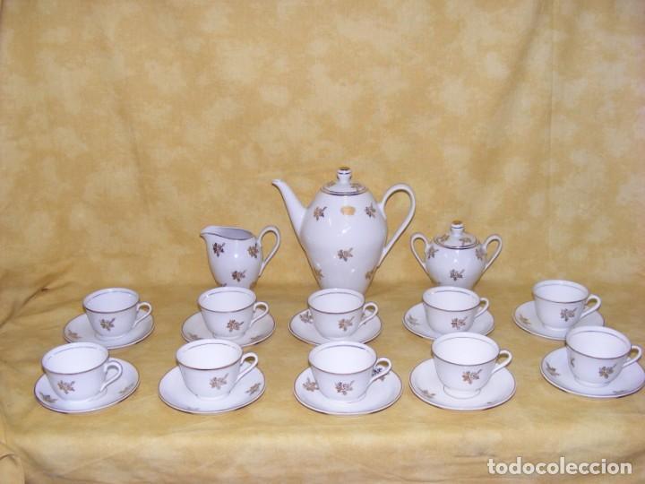 JUEGO CAFE PORCELANA (Antigüedades - Porcelana y Cerámica - Alemana - Meissen)