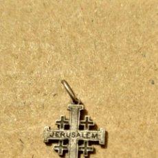 Antigüedades: RD- CRUZ DE JERUSALÉN ISRAEL TIPO ORDEN DEL SANTO SEPULCRO EN PLATA. ALTO: 17 MM.. Lote 153954960