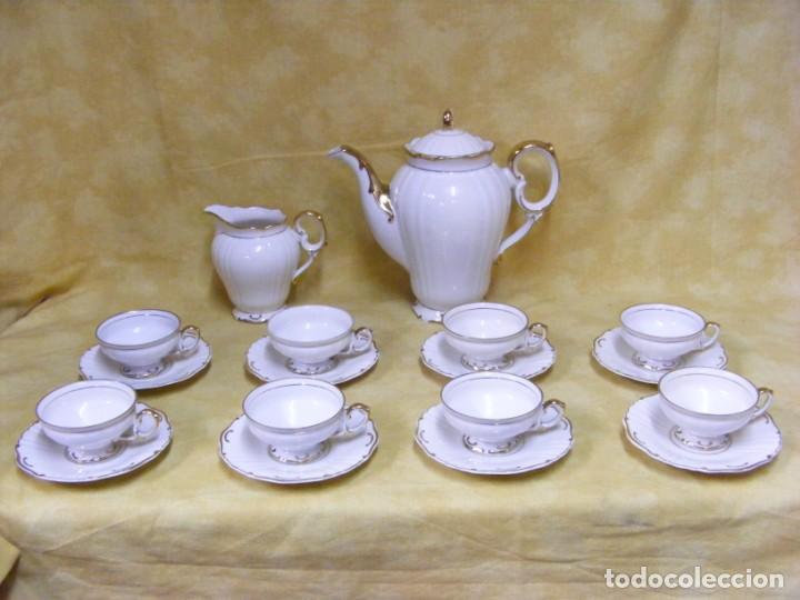 JUEGO DE CAFÉ EN PORCELANA (Antigüedades - Porcelana y Cerámica - Alemana - Meissen)
