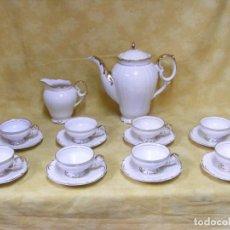 Antigüedades: JUEGO DE CAFÉ EN PORCELANA. Lote 153955466