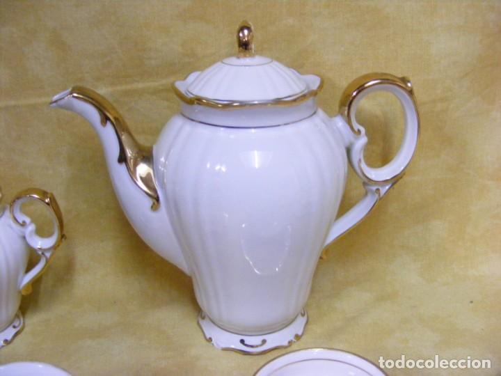 Antigüedades: JUEGO DE CAFÉ EN PORCELANA - Foto 2 - 153955466