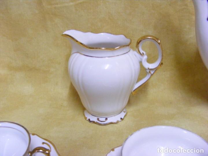 Antigüedades: JUEGO DE CAFÉ EN PORCELANA - Foto 3 - 153955466