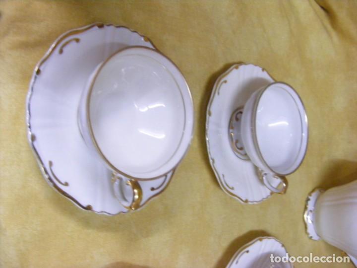 Antigüedades: JUEGO DE CAFÉ EN PORCELANA - Foto 4 - 153955466