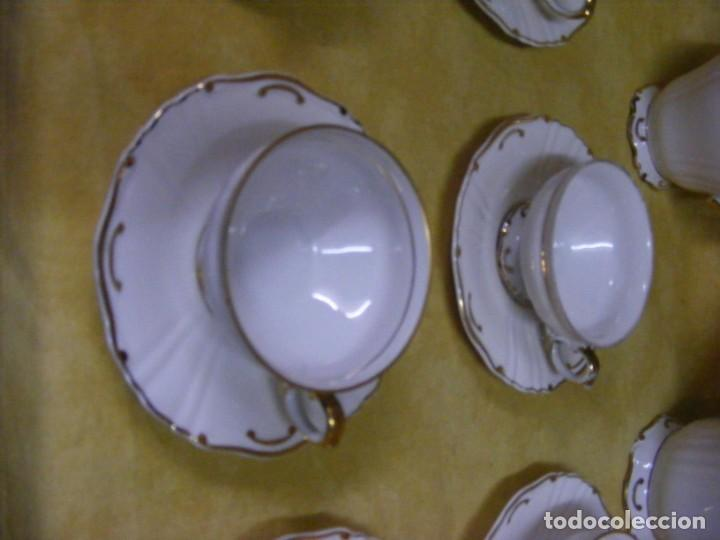 Antigüedades: JUEGO DE CAFÉ EN PORCELANA - Foto 5 - 153955466