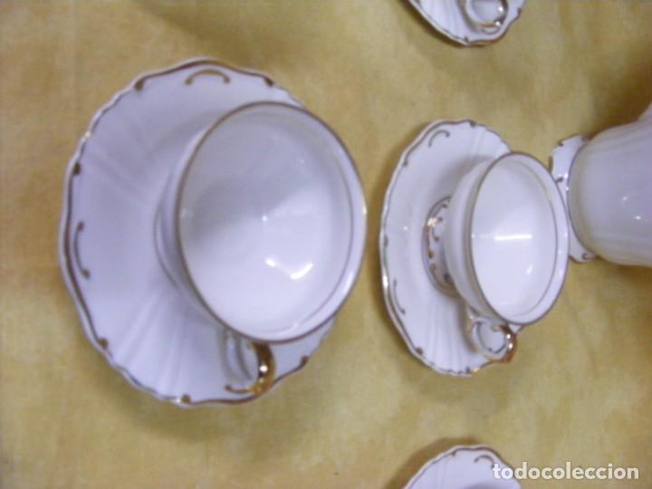 Antigüedades: JUEGO DE CAFÉ EN PORCELANA - Foto 6 - 153955466