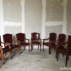 Antigüedades: SILLAS DE MADERA MAZIZA. Lote 153960250