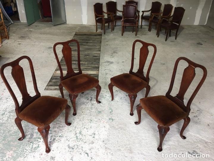 SILLAS COMEDOR MADERA MAZIZA (Antigüedades - Muebles Antiguos - Sillas Antiguas)