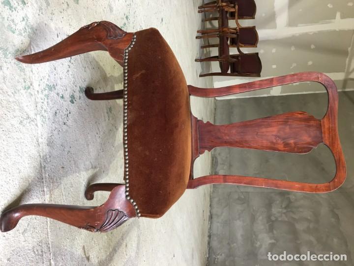 Antigüedades: sillas comedor madera maziza - Foto 2 - 153960382