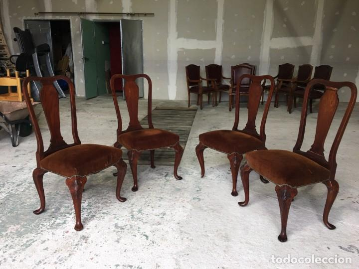 Antigüedades: sillas comedor madera maziza - Foto 3 - 153960382
