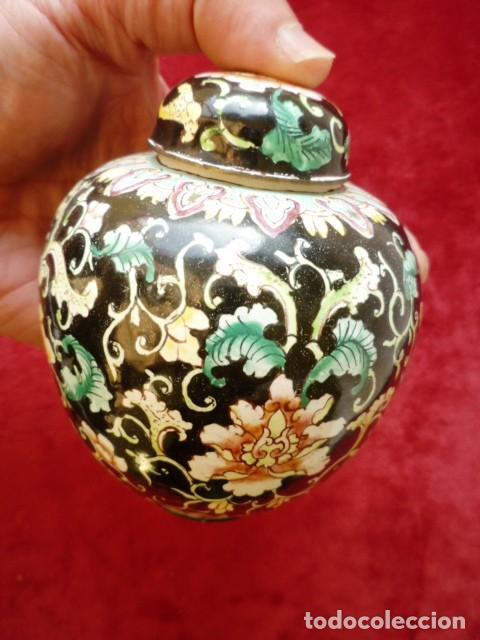 TIBOR EN BRONCE CLOISONNE, INTERIOR ESMALTADO AL FUEGO EN BLANCO (Antigüedades - Porcelanas y Cerámicas - China)
