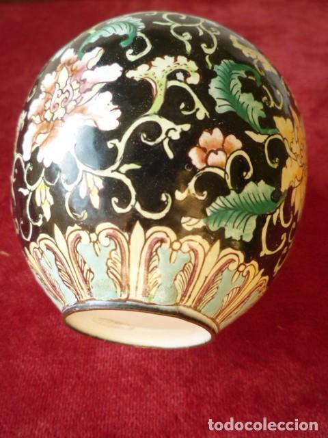 Antigüedades: TIBOR EN BRONCE CLOISONNE, INTERIOR ESMALTADO AL FUEGO EN BLANCO - Foto 8 - 153962450