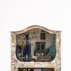 Antigüedades: ESPEJO ANTIGUO RESTAURADO SAMBRE. Lote 153974462