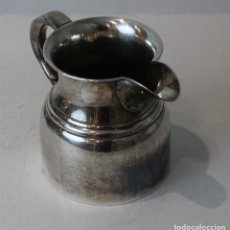 Antigüedades: JARRA LECHERA DE ALPACA PLATEADA.. Lote 154027918