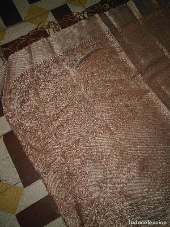 Antigüedades: PAÑUELO PICO CHAL TRAJE REGIONAL MANTON MODA COMPLEMENTO 80 % LANA 175 CM APROXIMADOS - Foto 4 - 154041078
